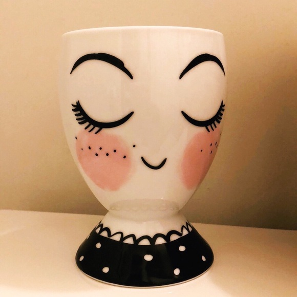 happy face plant holder/ pencil cup